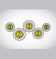coins money growth icon vector image