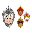 Fire monkey 2016 vector image