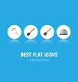 flat icon farm set of spade shovel cutter and vector image