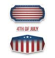 fourth of july national flag labels set vector image