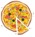 Italian pizza with a slice vector image