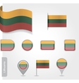 Lithuanian flag icon vector image
