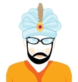 Man in hat of the hindu vector image