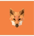 Orange Fox head Polygon Design style f modern logo vector image