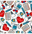 Seamless pattern of medical icons vector image