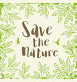 background with green leaves vector image vector image