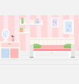 room interior apartment in pink colors and white vector image
