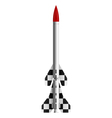 Two-stage rocket vector image