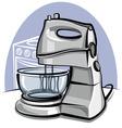 kitchen mixer vector image vector image