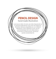 Hand drawn black line circles Logo design with vector image