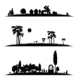 different landscape vector image