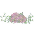 drawn watercolor flower rose vector image