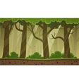 Forest Cartoon Background vector image