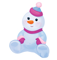 snowman baby vector image