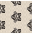 Flower lace seamless pattern net vector image