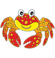 Red spotted crab vector image