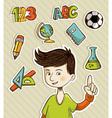 Back to School cartoon kid vector image vector image