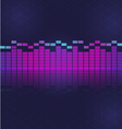 sound and audio waves equalizer vector image