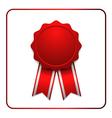Ribbon award icon red 1 vector image
