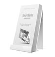 White Glossy holder for flyer brochure vector image