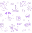 Hand Draw beach doodle vector image