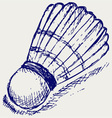 Sketch badminton ball vector image