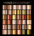 bronze gold gradients vector image