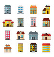 buildings set in cartoon flat style vector image