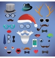 Christmas fashion silhouette set hipster style vector image