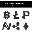 digital currency counter set fintech vector image