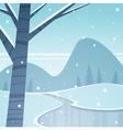 Frozen Lake vector image