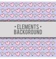 hearts diamonds background elements design vector image