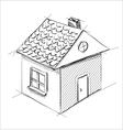 Little cartoon house vector image