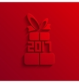 modern 2017 gift red icon background vector image