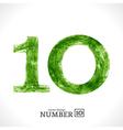 Grunge Number 10 vector image