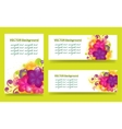 set of banners with flowers vector image