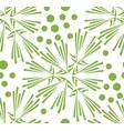 green floral dandelion seamless pattern background vector image