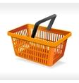 orange shopping basket vector image