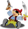 Cartoon pirate design vector image