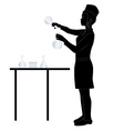Laboratory assistant silhouette vector image