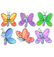 A group of colourful butterflies vector image