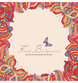 background with two colored decorative butterflies vector image