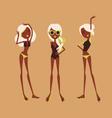 fashion girls in bikini vector image