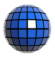 Global sphere vector image