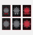 greeting cards in black and red colors vector image