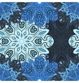 Pastel blue seamless pattern with flowery vector image