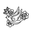 roses tattoo design vector image