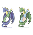 dragon and bottle vector image
