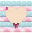 heart scrap book background vector image vector image