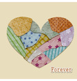 vintage valentines greeting card with heart vector image